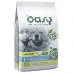 Храна за кучета Oasy Lamb Monoprotein Adult с агнешко за всички породи над 12 месеца, две разфасовки