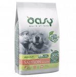 Храна за кучета Oasy Salmon Monoprotein Adult със сьомга за всички породи над 12 месеца, две разфасовки