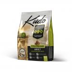 Храна за кучета от средни и едри породи над 12 месеца  Kudo Adult Medium&Maxi, с пилешко месо и билки, две разфасовки