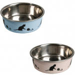 Bella INOX Метална купа за куче/котка с гумена основа, Karlie