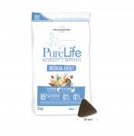 Суха храна за кучета от средни породи Pro-Nutrition Flatazor PureLife Medium Adult, без зърнени храни, със сьомга и патица, две разфасовки