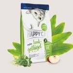 Happy Cat Sensitive – Органично Пилешко,храна подходяща за дългокосмести и родословни котки - три разфасовки