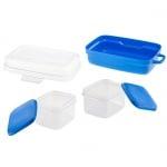 Пластмасов комплект за храна и вода на домашни любимци по време на разходка и пътуване