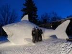 Акулата от сняг