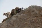 Американски патрули в Афганистан с куче