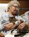 Баба с котата си