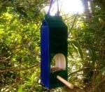Хранилка за птици от кутия за мляко