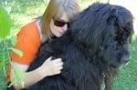 Жена с грамадно куче