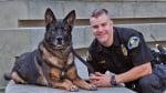 Полицай и куче в екип