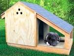 Как да построим къща с веранда за нашето куче?