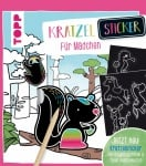 Книжка за оцветяване немски език TOPP, Kratzel-Sticker für Mädchen, 48 стр.