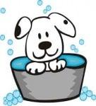 Кога се къпе малко куче