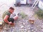 Котенца с войник