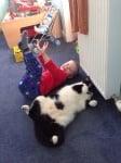 Котка с дете