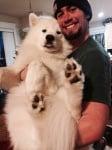 Кучето винади позира за снимка