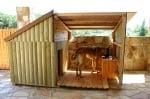 Къща за кучета с веранда