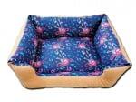 2 в 1 Двулицево легло за кучета или котки МЮЗИК + подарък възглавничка кокалче - 100% памук Ранфор
