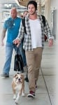 Лиъм Хемсуорт с кучето си