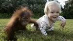 Маймунка с дете