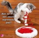 Мартеничка за моето коте