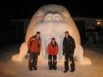 Морж от сняг