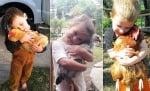 Най - зареждащата галерия с деца, които прегръщат кокошки