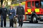 Немска овчарка спасява семейство от пожар