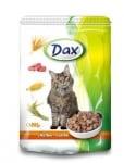 Пауч за котка Dax - с пилешко месо в сос, 100 гр.
