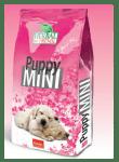 Puppy MINI - за подрастващи кучета от дребни породи до 1г с пиле, патица, риба тон и 5 вида билки, 12 кг.