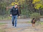Разхождане на куче от приюта в Стара Загора