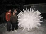 Риба балон от сняг
