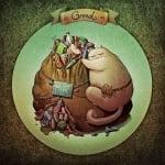 Седемте смъртни гряха, изобразени чрез котки - алчност