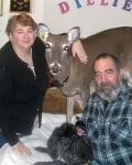 Сляпото еленче Дили заедно с Мелани и Стив Бутера