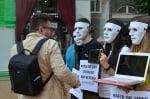 Вегани на протест