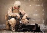 Войник с вярното си куче
