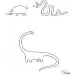 Змия динозавър